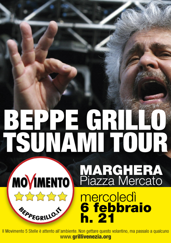 LO TSUNAMI TOUR FA TAPPA A MARGHERA IL 6 FEBBRAIO 2013, ORE 21